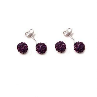Brianna orecchino crystal balls