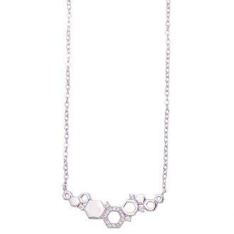 Rose collana argento zircone