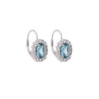 Royal orecchino argento zircone